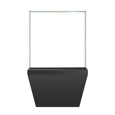 Square vertical display cabinet